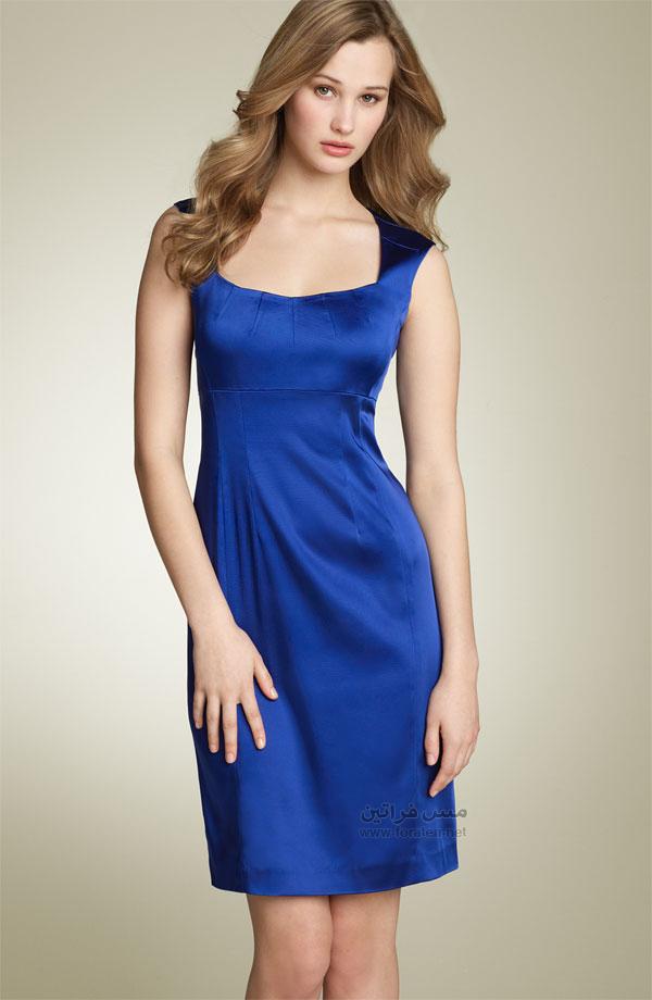 الفساتين القصيرة الزرقاء موضة رأس السنة